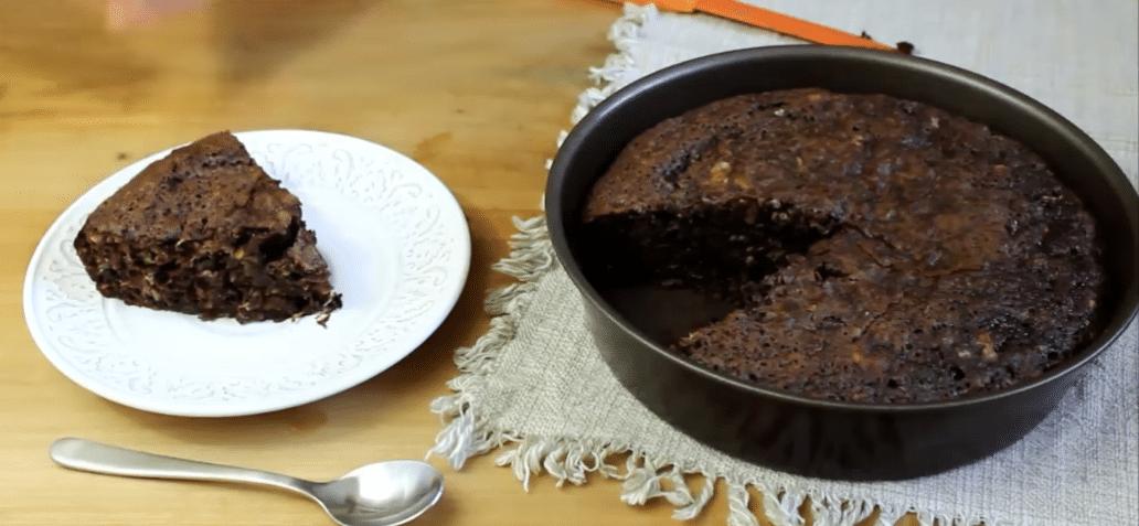 Gâteau au chocolat à la courgette et sans beurre